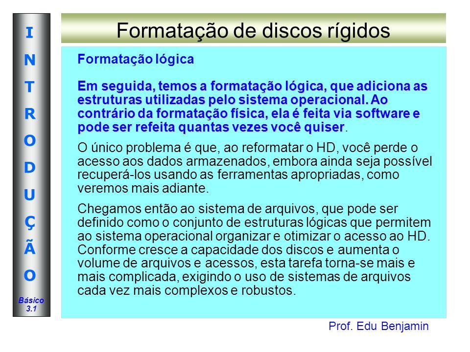 Formatação de discos rígidos