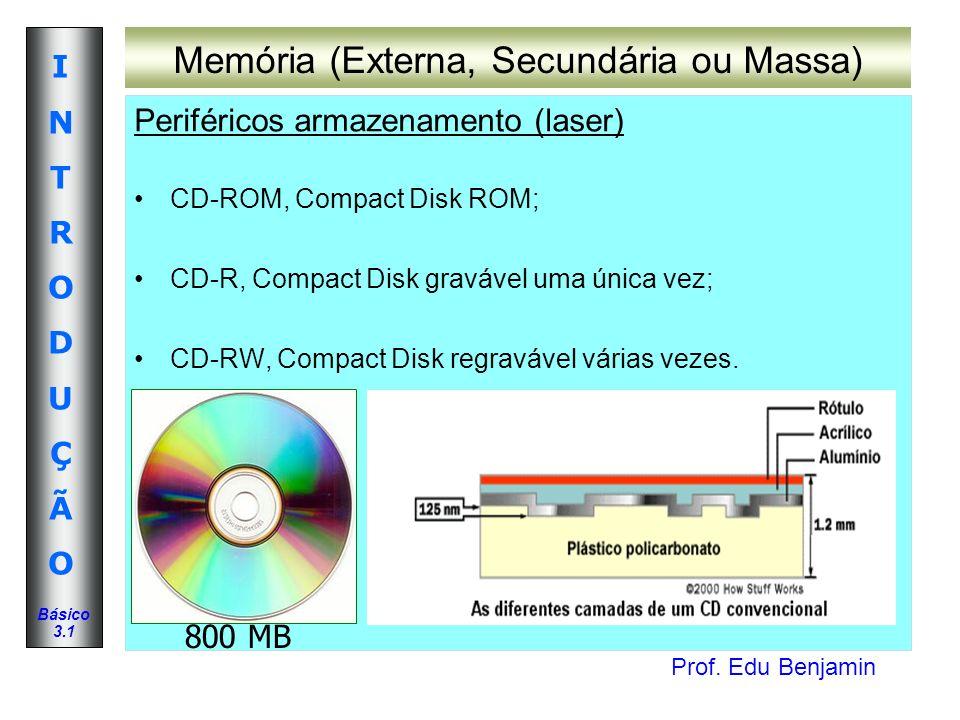 Memória (Externa, Secundária ou Massa)