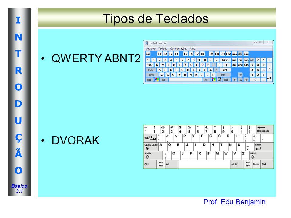 Tipos de Teclados QWERTY ABNT2 DVORAK