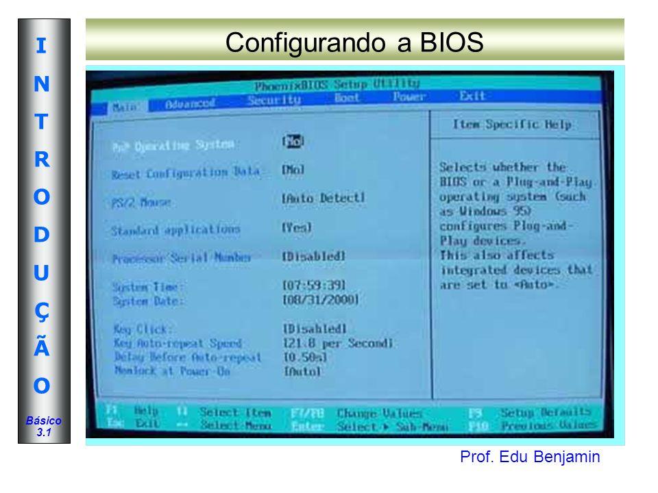 Configurando a BIOS