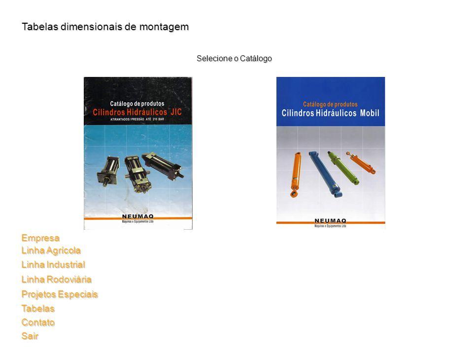 Tabelas dimensionais de montagem