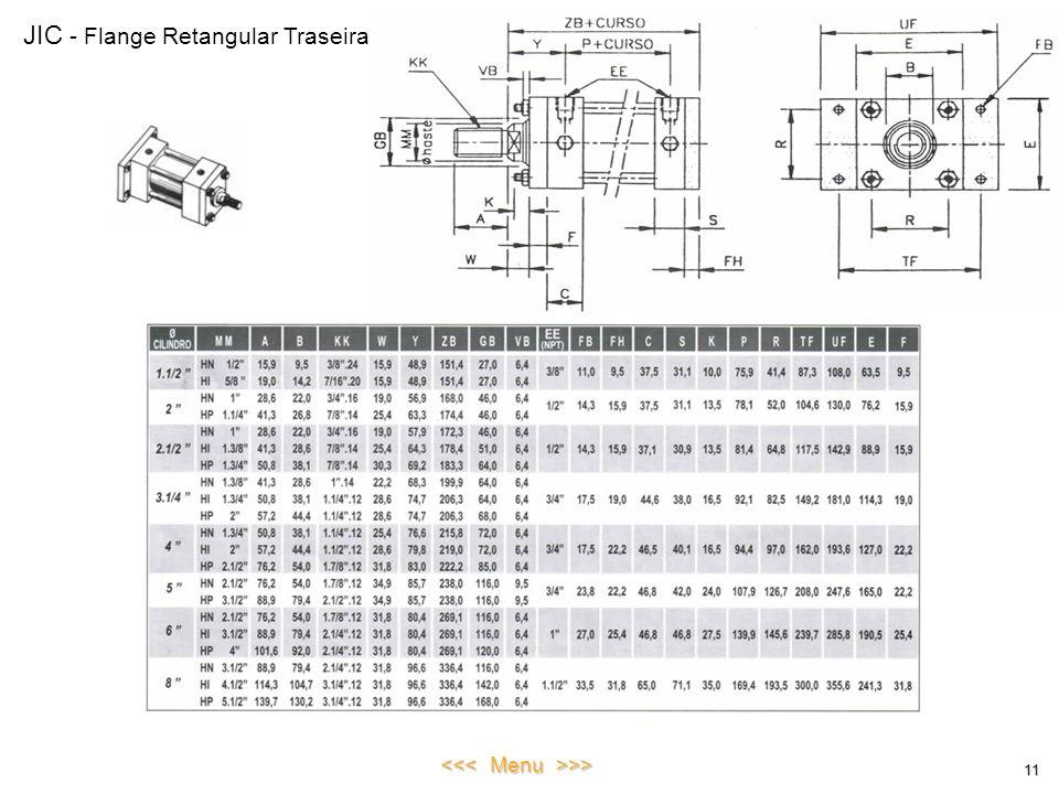 JIC - Flange Retangular Traseira