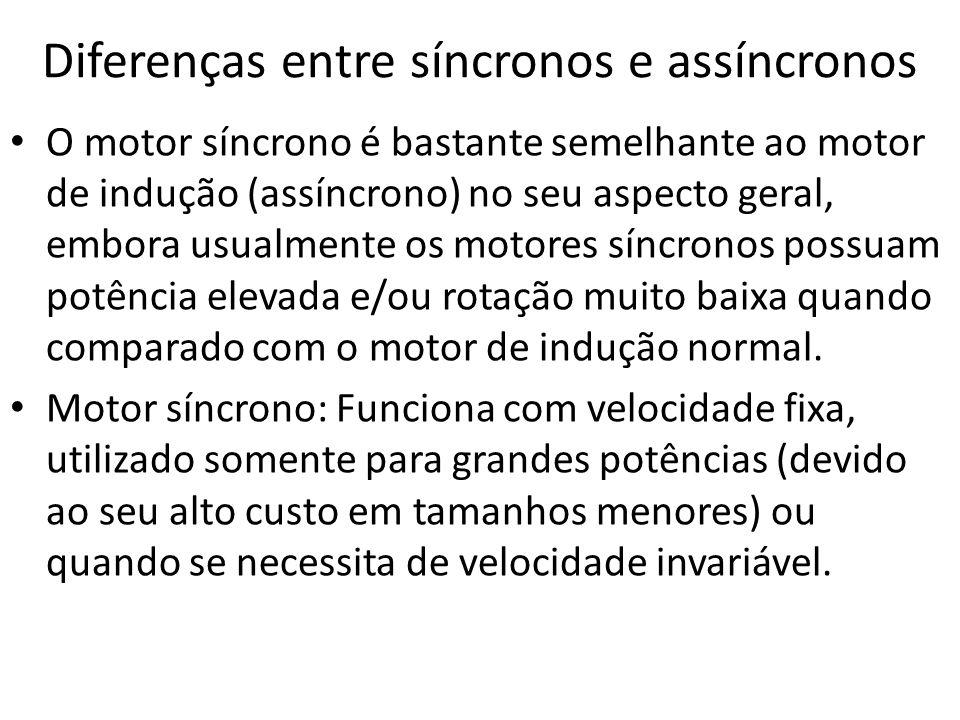 Diferenças entre síncronos e assíncronos