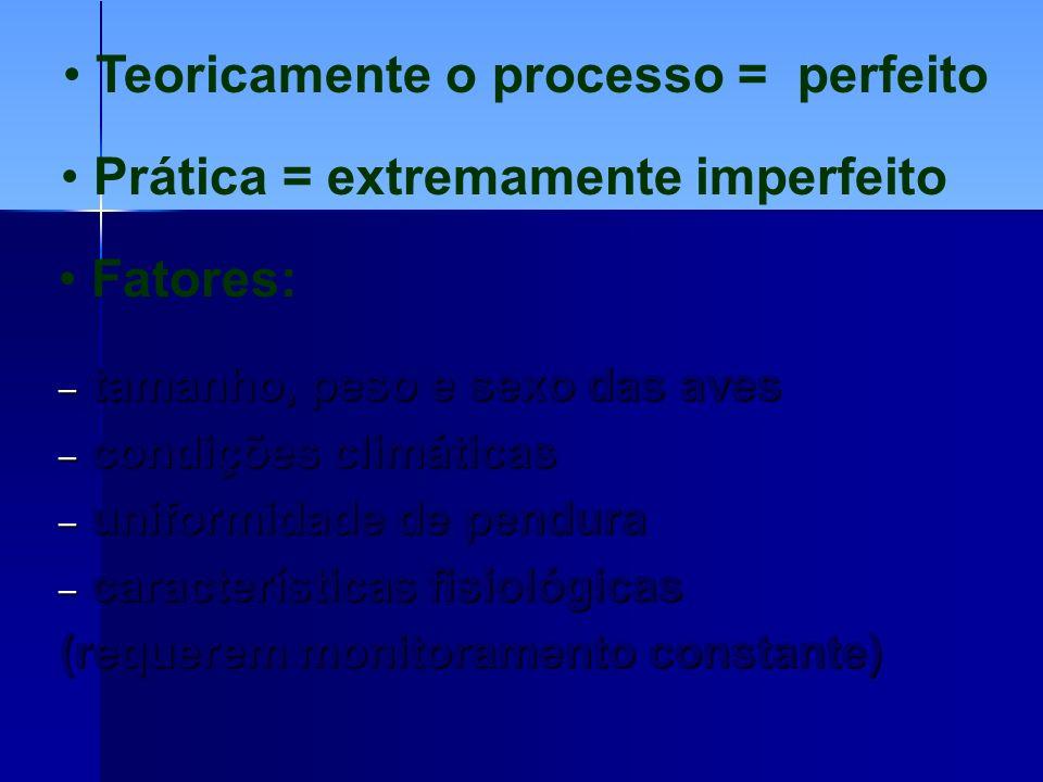 Teoricamente o processo = perfeito