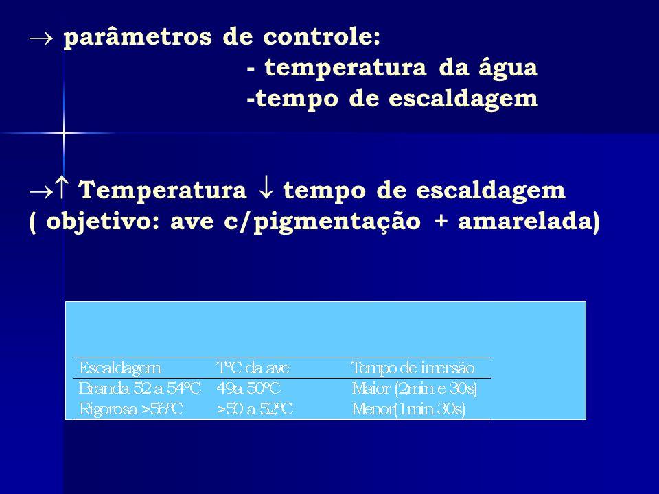 parâmetros de controle: