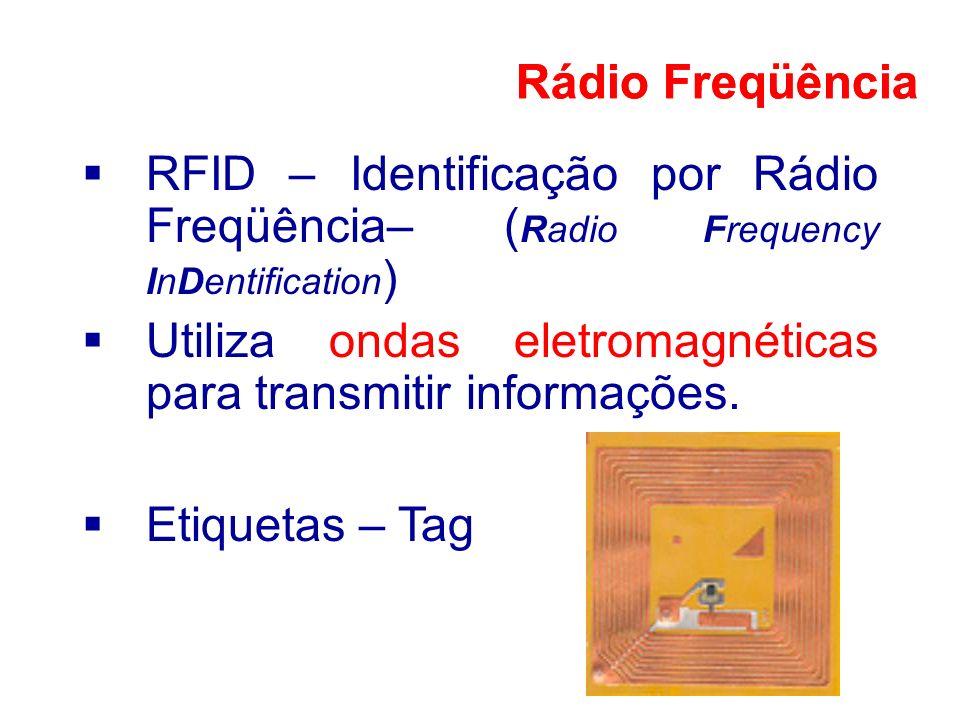 Rádio Freqüência Rádio Freqüência. RFID – Identificação por Rádio Freqüência– (Radio Frequency InDentification)