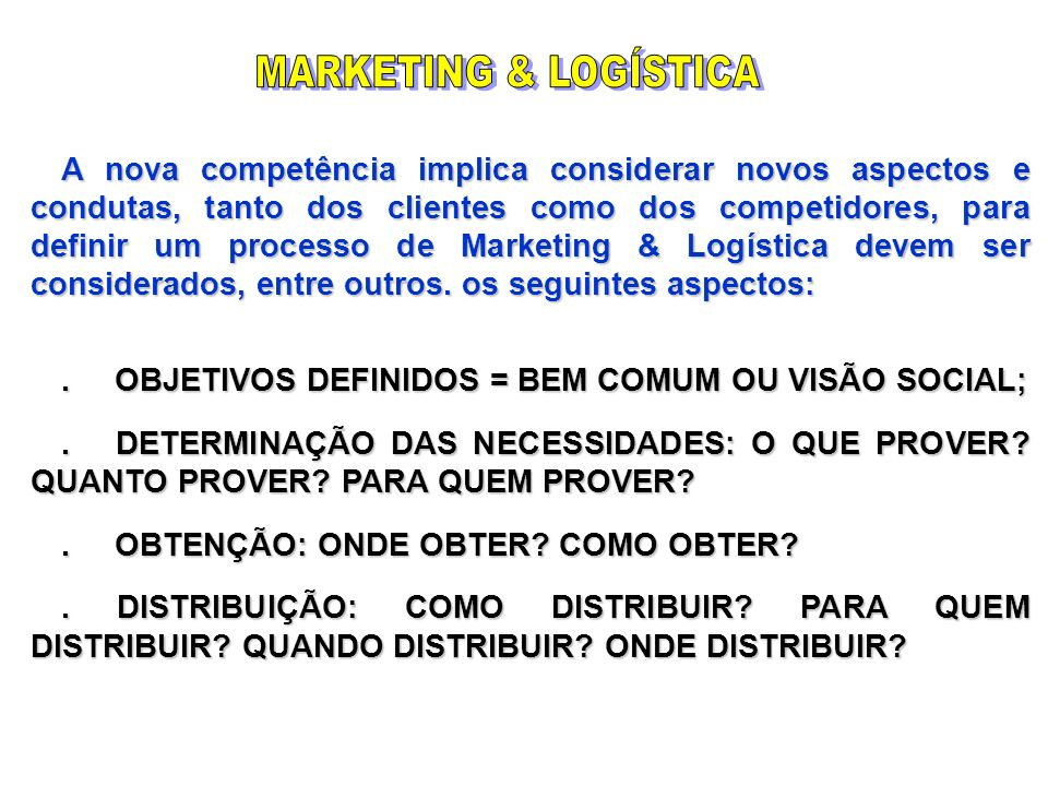 MARKETING & LOGÍSTICA