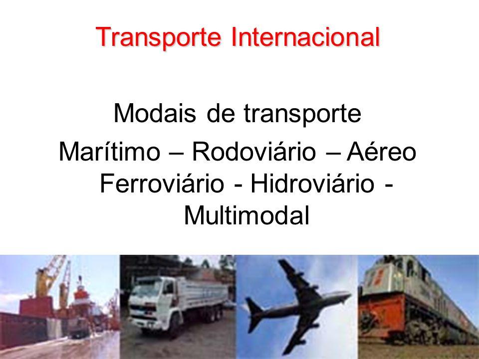 Transporte Internacional Modais de transporte