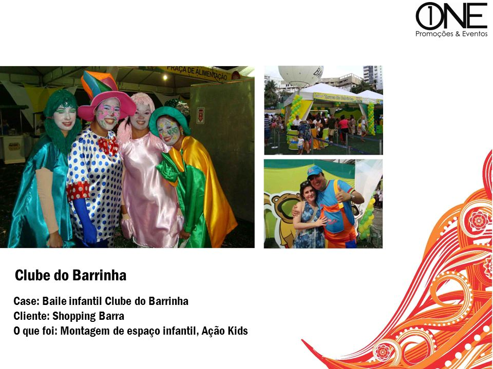 Clube do Barrinha Case: Baile infantil Clube do Barrinha