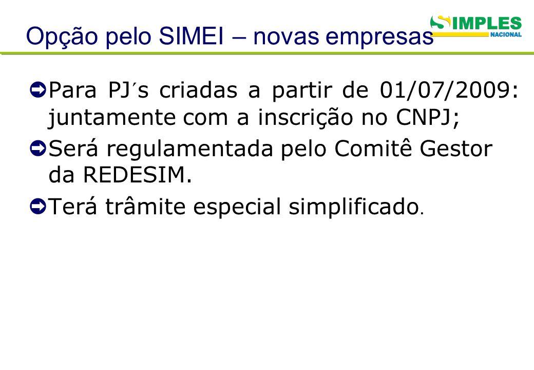 Opção pelo SIMEI – novas empresas