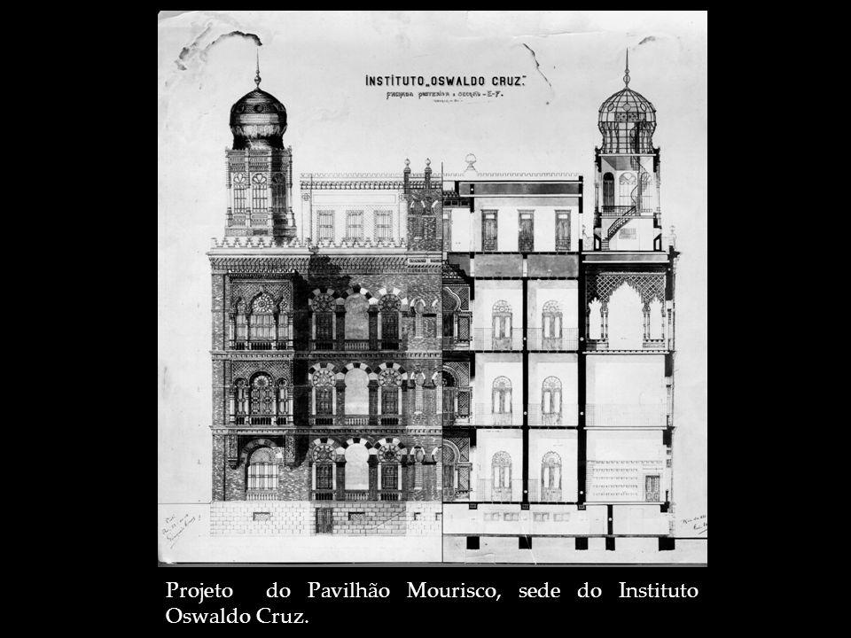 Projeto do Pavilhão Mourisco, sede do Instituto Oswaldo Cruz.