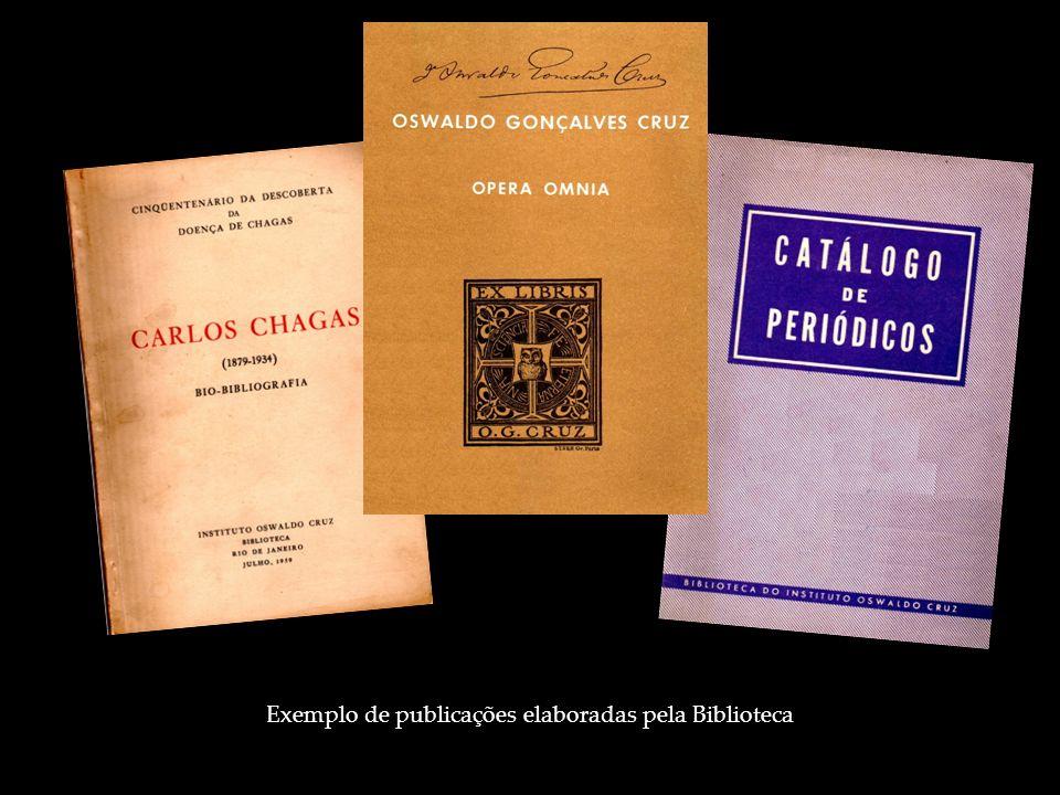 Exemplo de publicações elaboradas pela Biblioteca