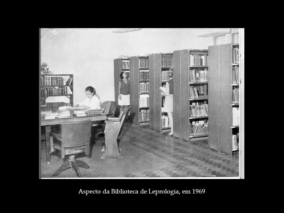 Aspecto da Biblioteca de Leprologia, em 1969