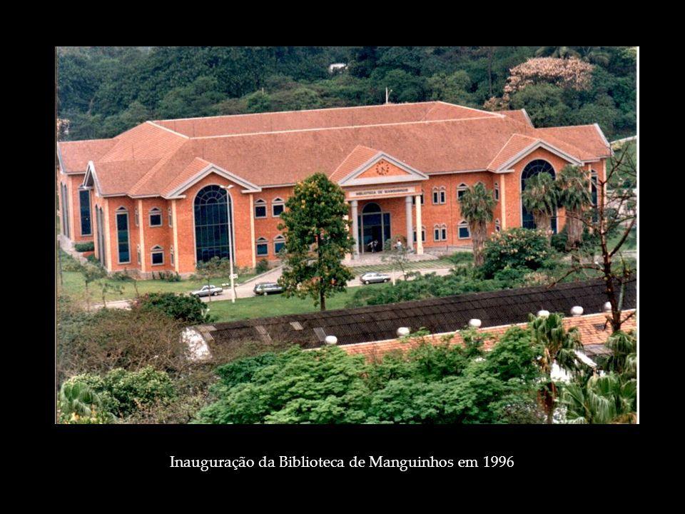 Inauguração da Biblioteca de Manguinhos em 1996