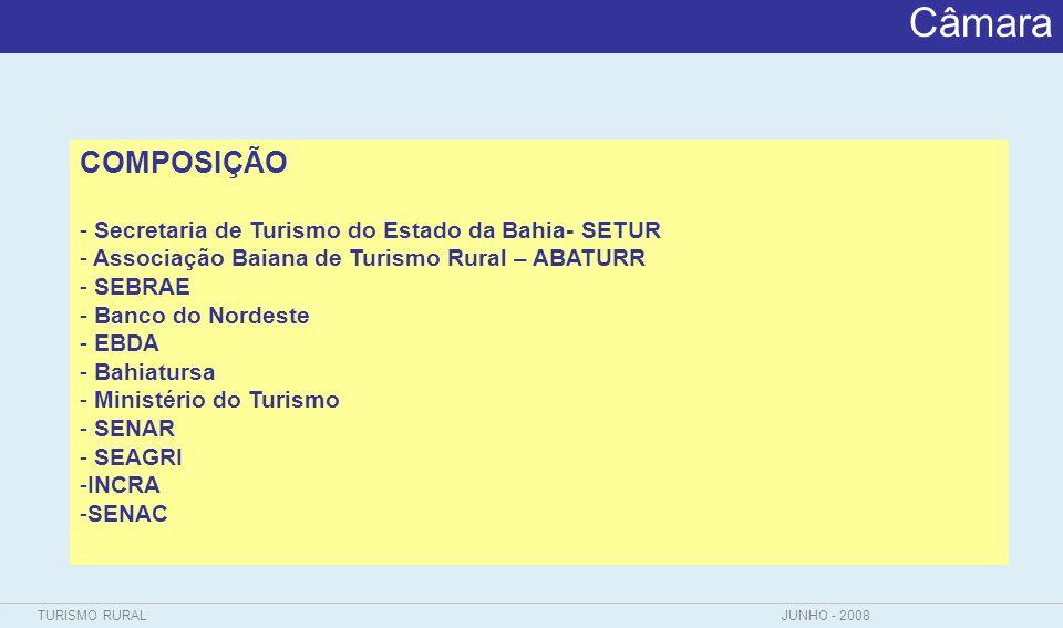 Câmara COMPOSIÇÃO Secretaria de Turismo do Estado da Bahia- SETUR