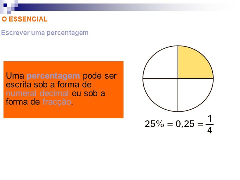 Escrever uma percentagem