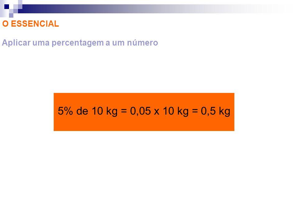 Aplicar uma percentagem a um número