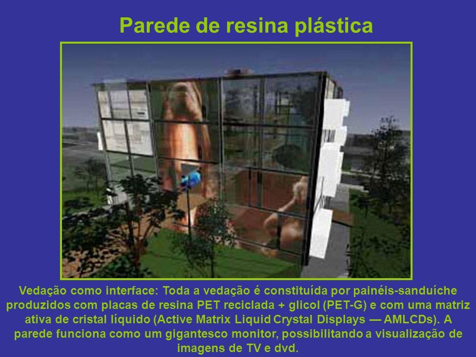 Parede de resina plástica