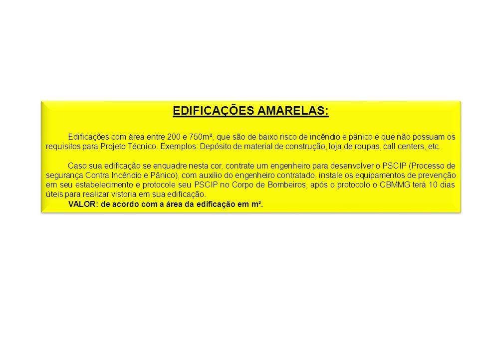 EDIFICAÇÕES AMARELAS: