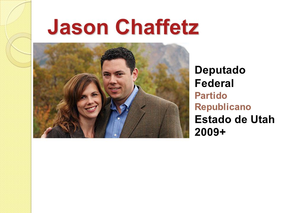 Jason Chaffetz Deputado Federal Estado de Utah 2009+