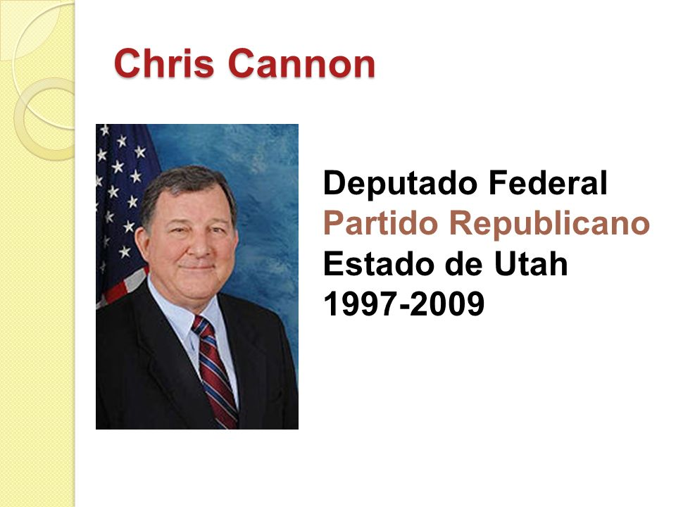 Chris Cannon Deputado Federal Partido Republicano Estado de Utah