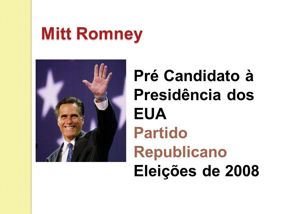 Mitt Romney Pré Candidato à Presidência dos EUA Partido Republicano