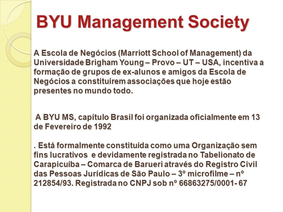 BYU Management Society