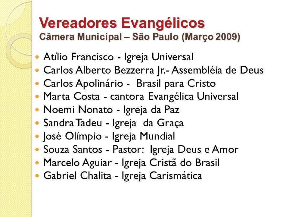 Vereadores Evangélicos
