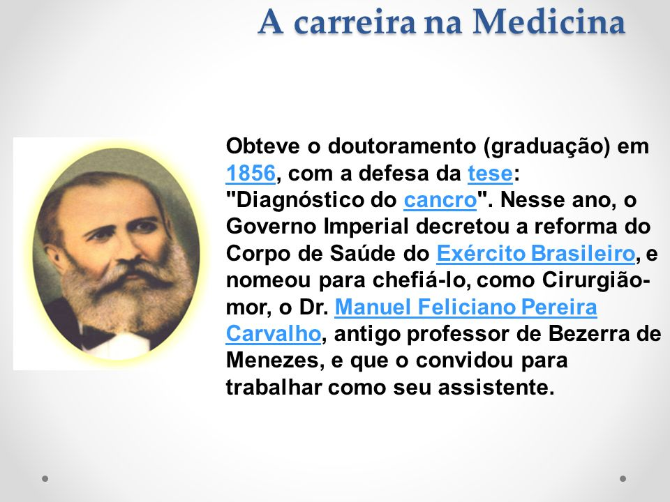 A carreira na Medicina