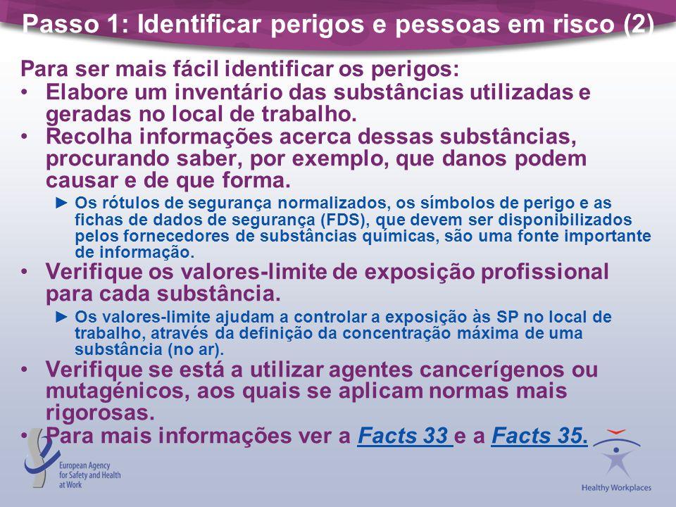 Passo 1: Identificar perigos e pessoas em risco (2)