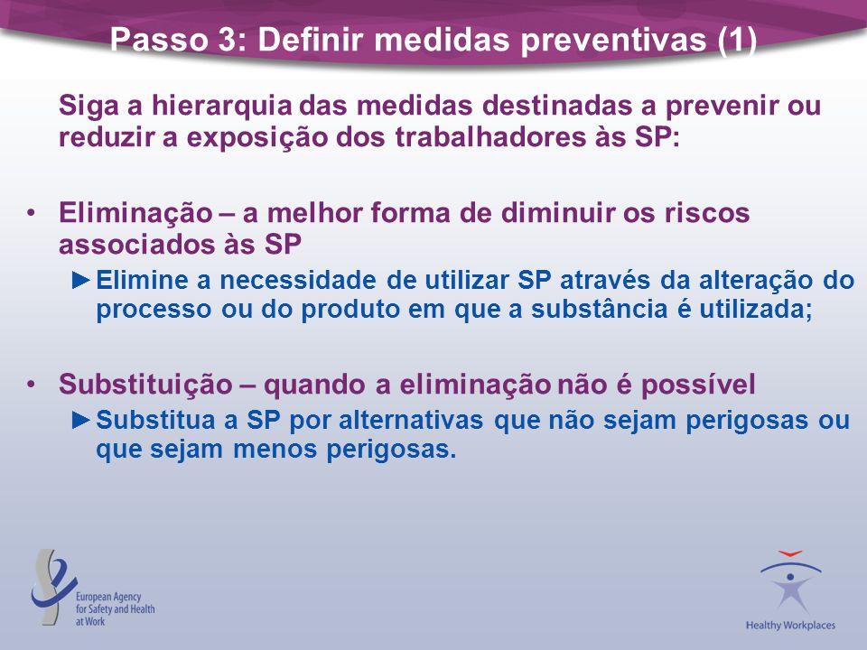 Passo 3: Definir medidas preventivas (1)