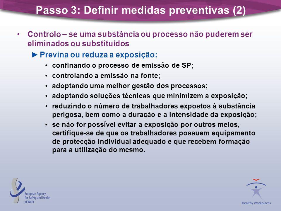 Passo 3: Definir medidas preventivas (2)