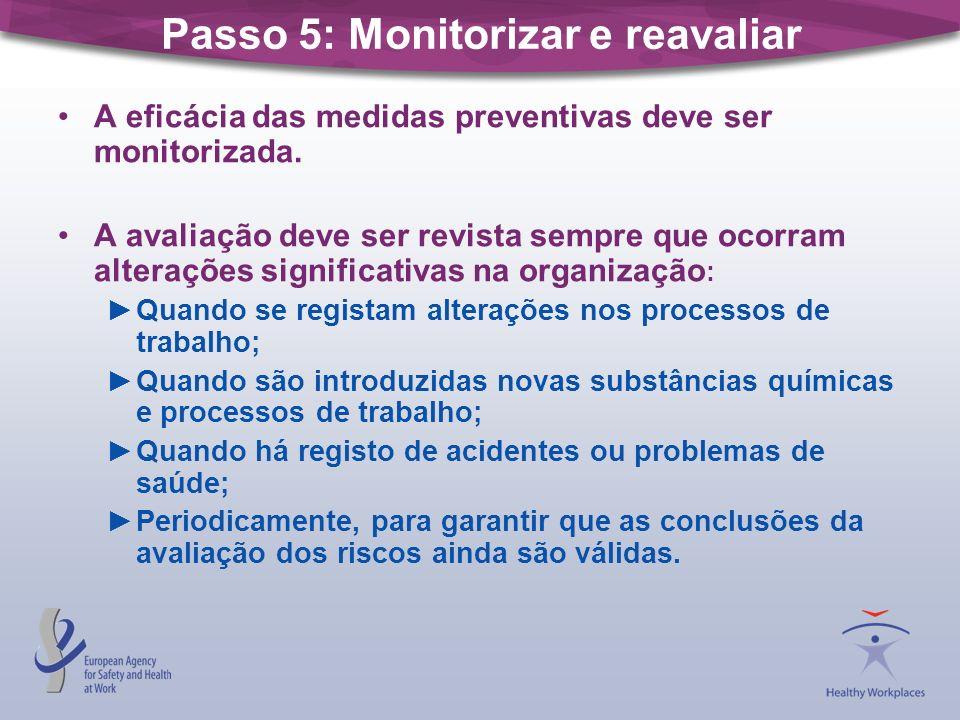 Passo 5: Monitorizar e reavaliar