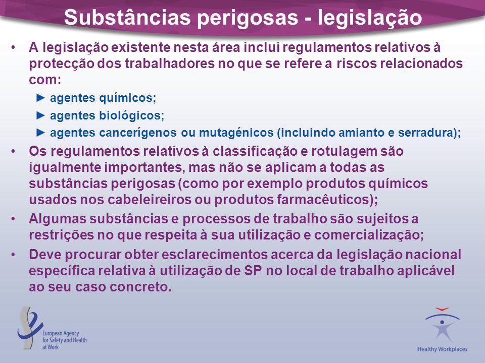 Substâncias perigosas - legislação