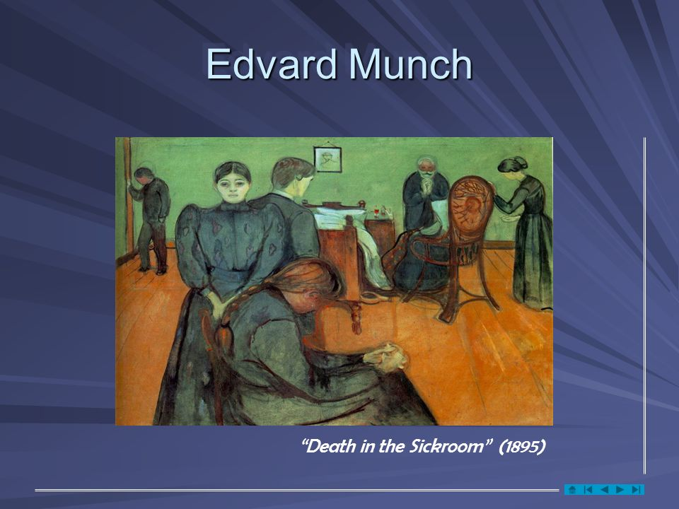 Edvard Munch Death in the Sickroom (1895)