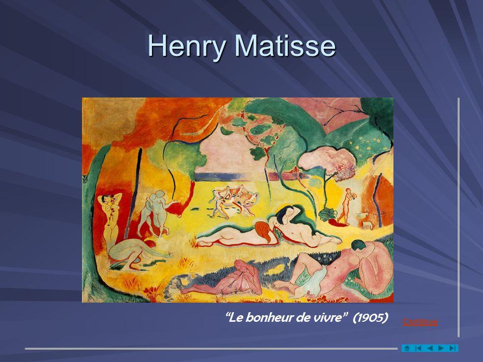 Henry Matisse Le bonheur de vivre (1905) Continua