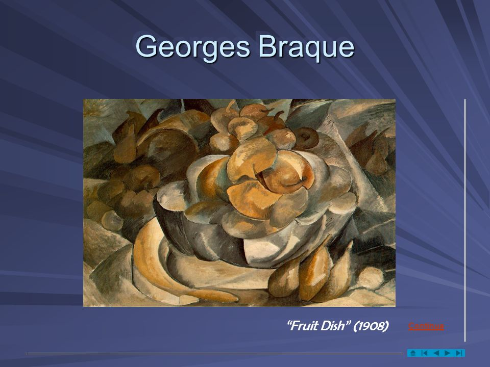 Georges Braque Fruit Dish (1908) Continua
