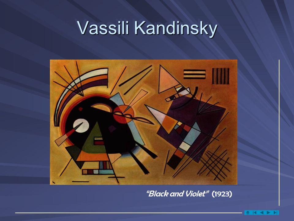 Vassili Kandinsky Black and Violet (1923)