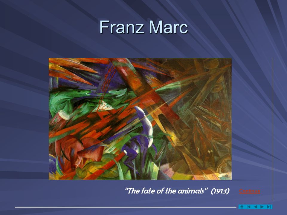 Franz Marc The fate of the animals (1913) Continua