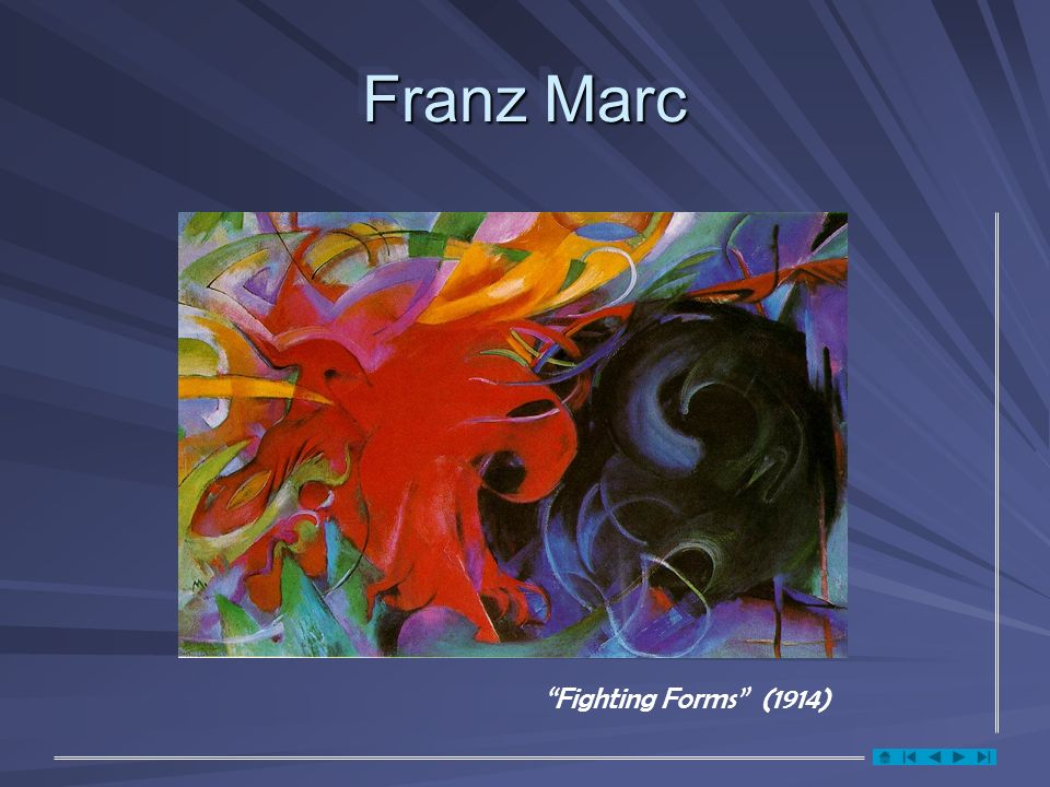 Franz Marc Fighting Forms (1914)