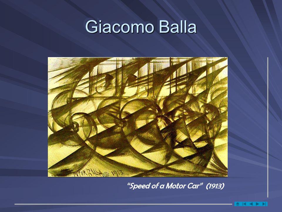 Giacomo Balla Speed of a Motor Car (1913)