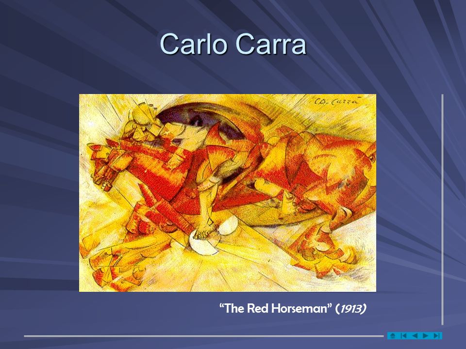 Carlo Carra The Red Horseman (1913)