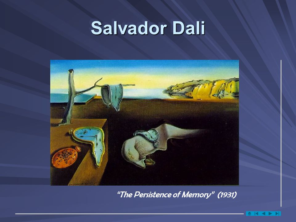 Salvador Dali The Persistence of Memory (1931)