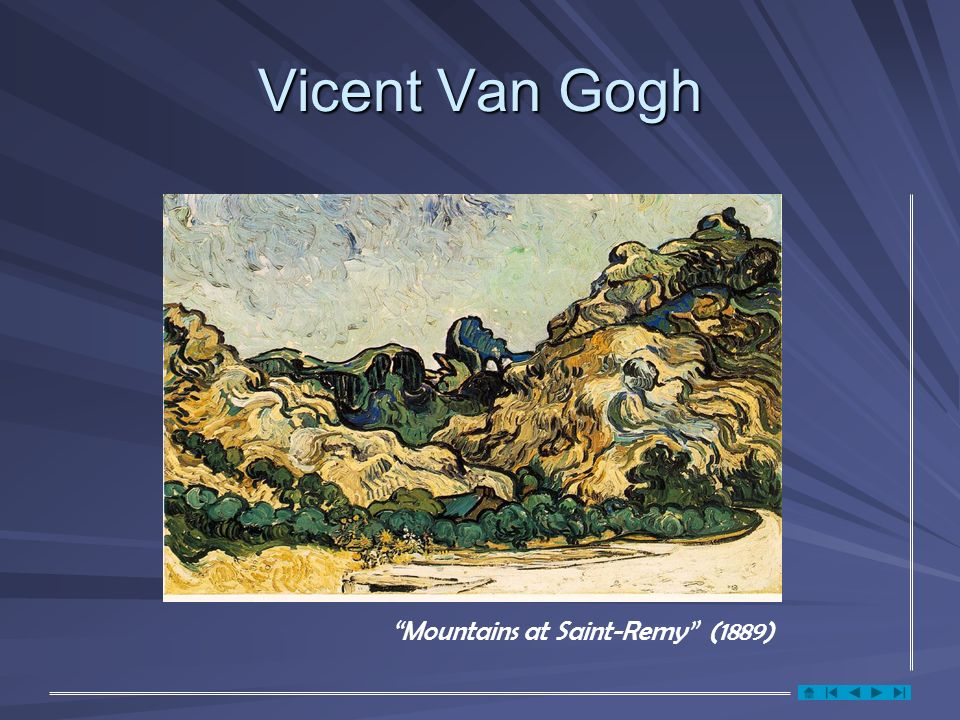 Vicent Van Gogh Mountains at Saint-Remy (1889)