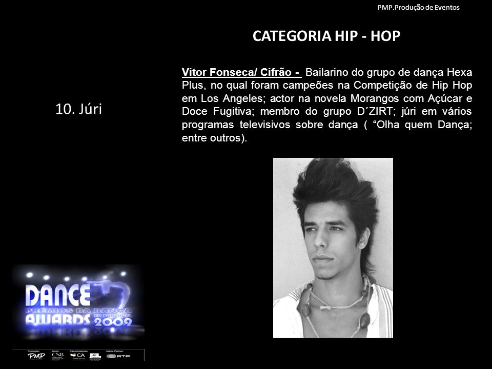 CATEGORIA HIP - HOP 10. Júri