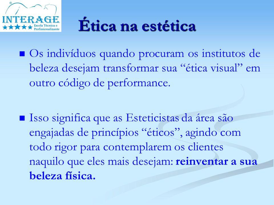 Ética na estética Os indivíduos quando procuram os institutos de beleza desejam transformar sua ética visual em outro código de performance.