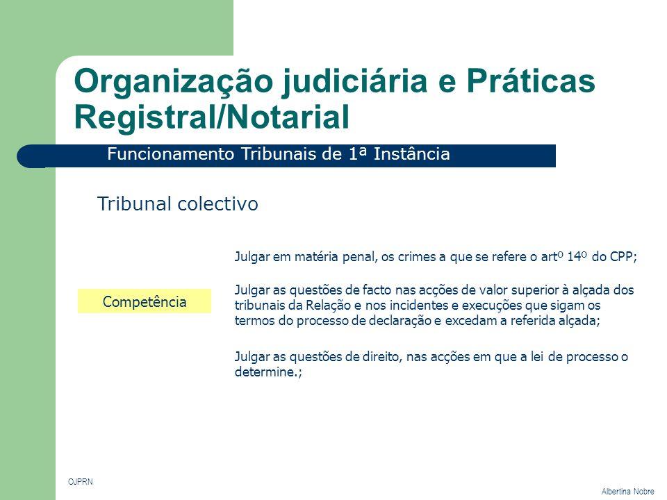 Organização judiciária e Práticas Registral/Notarial