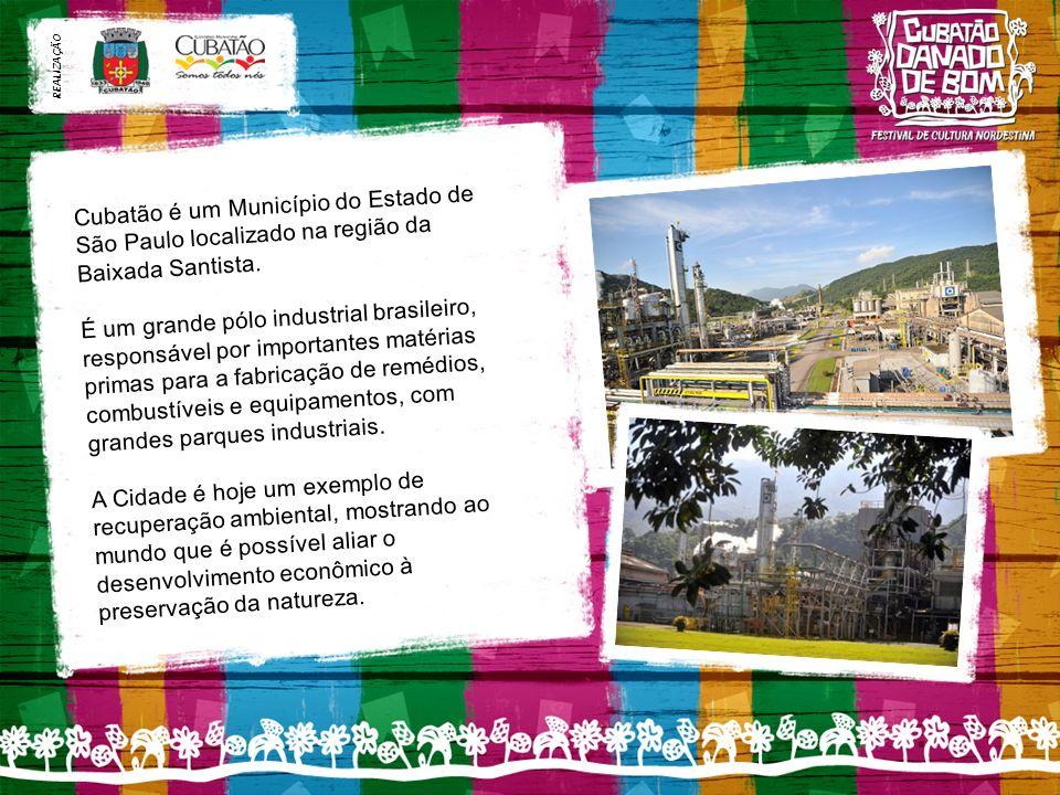 REALIZAÇÃO Cubatão é um Município do Estado de São Paulo localizado na região da Baixada Santista.