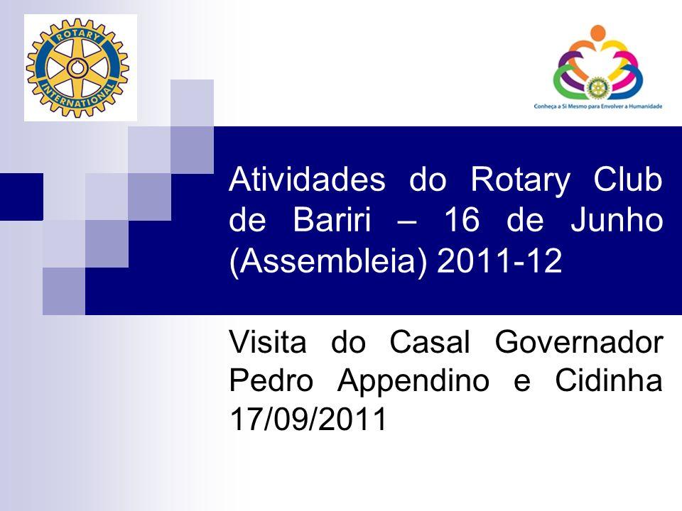 Atividades do Rotary Club de Bariri – 16 de Junho (Assembleia) 2011-12