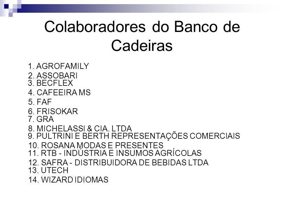 Colaboradores do Banco de Cadeiras
